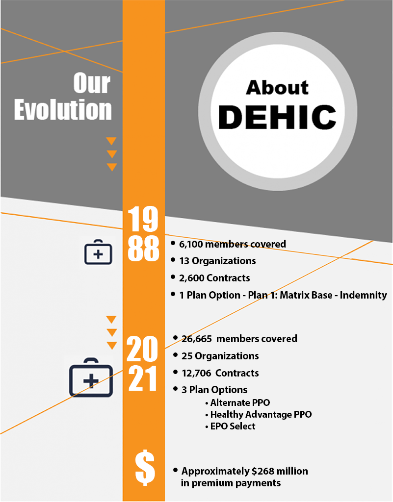 Graphic showing DEHIC growth 1988 to June 2021.